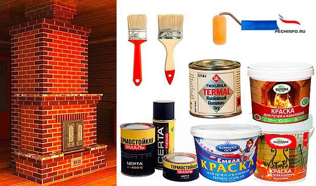 Чем покрасить печь в бане из металла (железную): выбор краски
