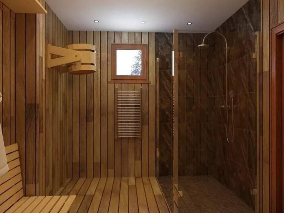 Совмещаем парилку и помывочную в бане: проект и фото