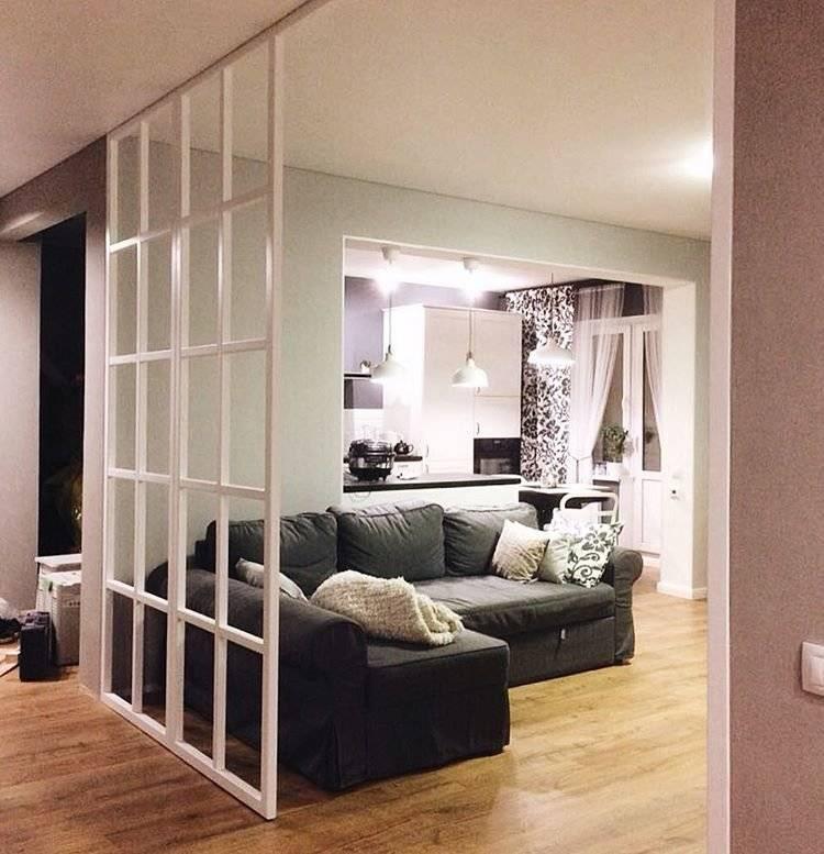 Спальня и гостиная в одной комнате: 48 фото, идеи зонирования