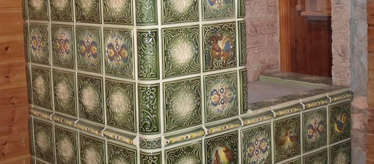 Облицовка печи керамической плиткой