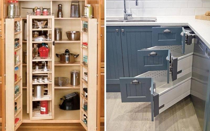 Организация хранения на кухне: 5 уникальных идей и 40 примеров размещения шкафчика под раковиной