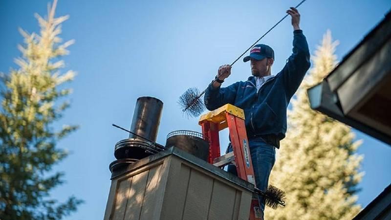 Как почистить дымоход - способы и приспособления