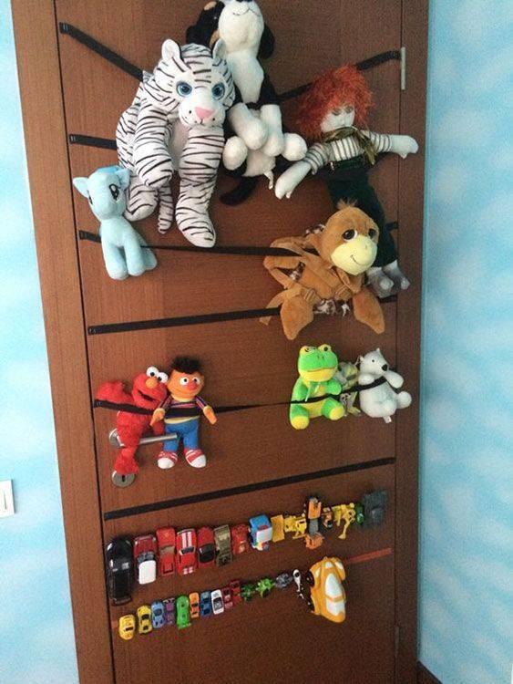 Хранение игрушек: оригинальные идеи экономии места