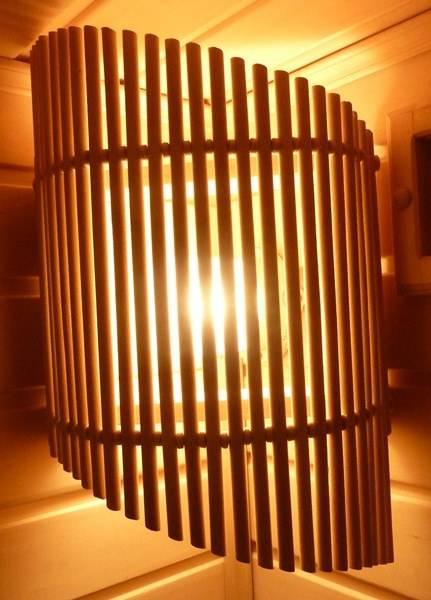 Светильник в баню своими руками из дерева в парилку