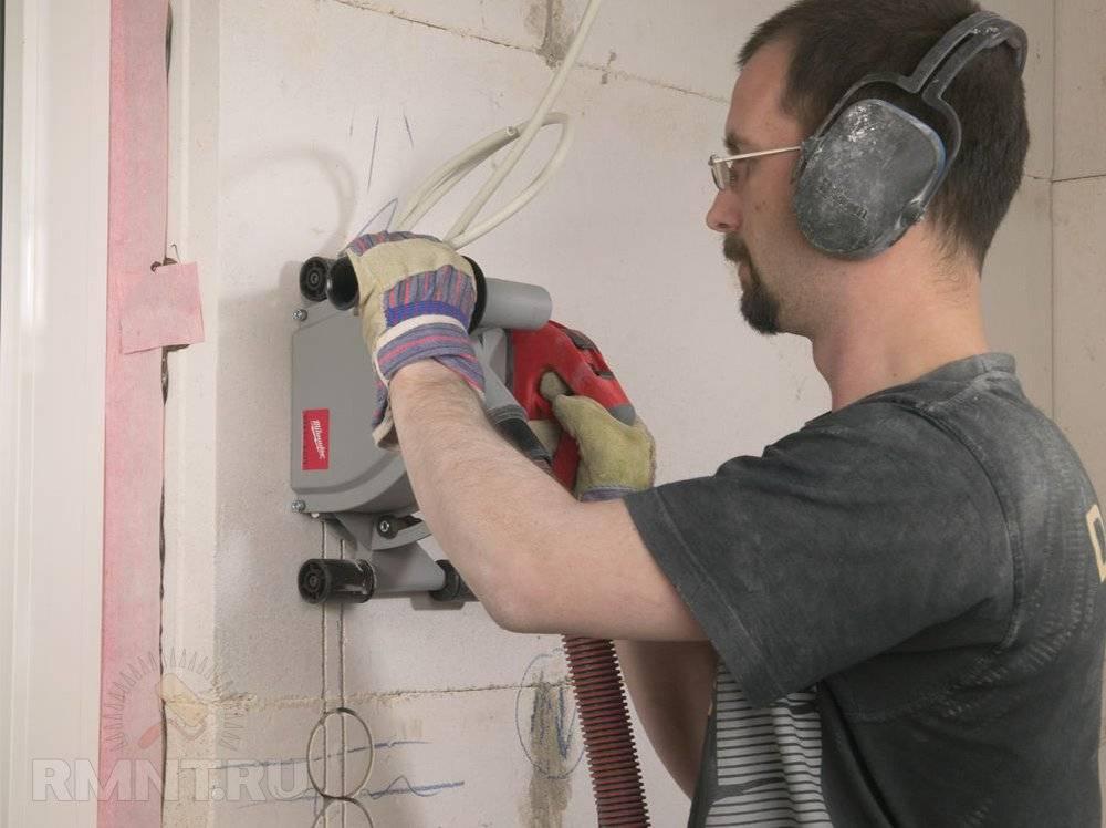 Как и чем штробить стены под проводку: инструктаж по проведению строительных работ