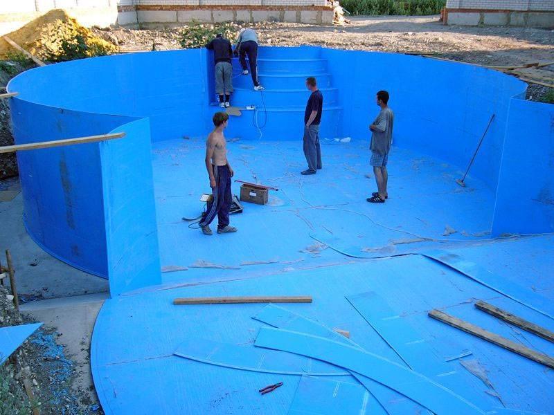 Особенности построения бассейна из полипропилена своими руками - описание этапов