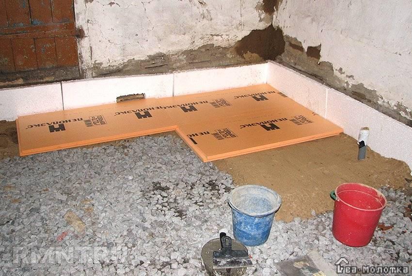 Бетонный пол по грунту в частном доме - подробная инструкция!