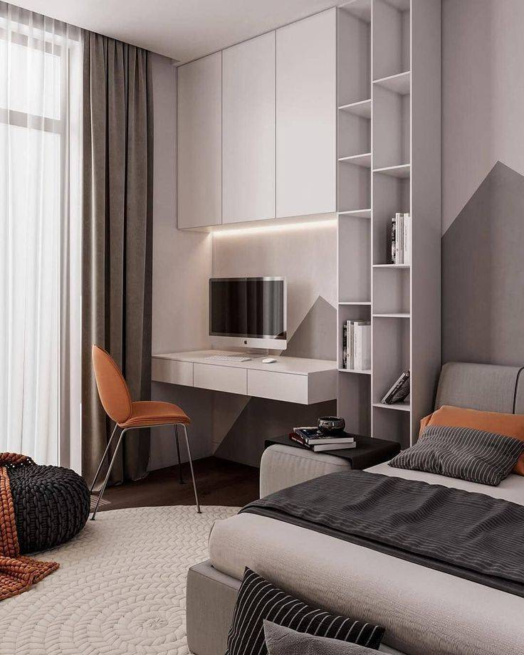 Дизайн спальни-кабинета: 50 идей оформления