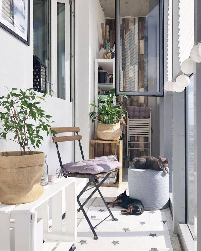 Балкон в скандинавском стиле: топ-40 фото, идеи дизайна