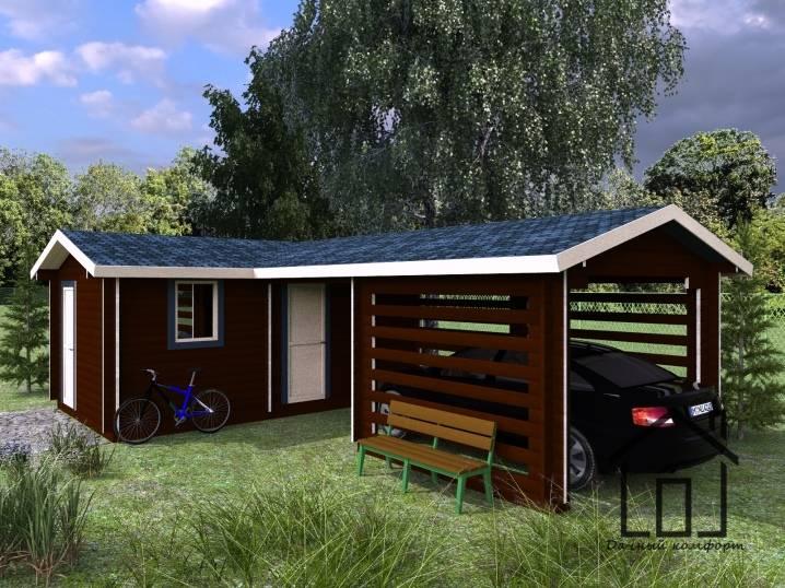 Практичность и удобство: проекты хозблока с дровником под одной крышей