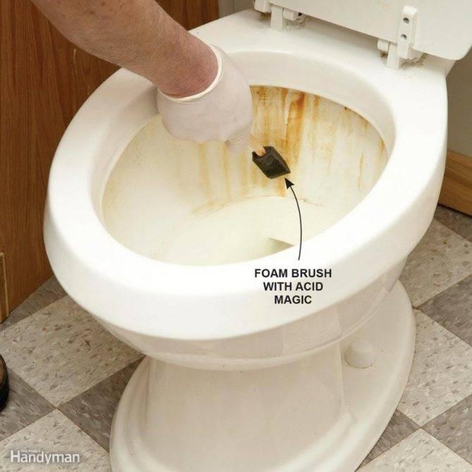 Как очистить унитаз от ржавчины - основные способы и средства