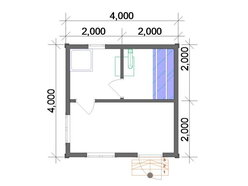 Проекты бань 4 на 4: особенности, планировки и преимущества