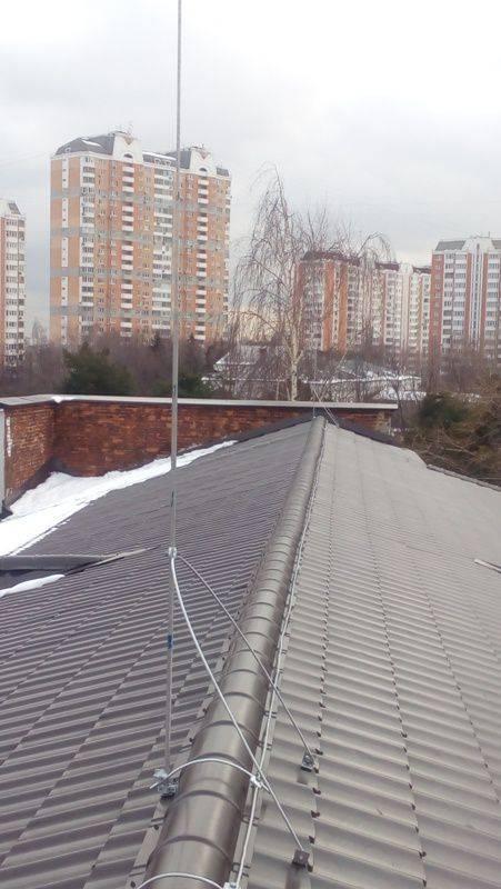 Заземление крыши из профнастила