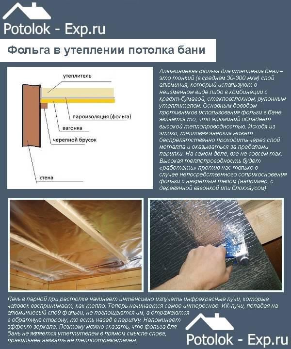 Алюминиевая фольга для бани: какую лучше выбрать, характеристики и монтаж