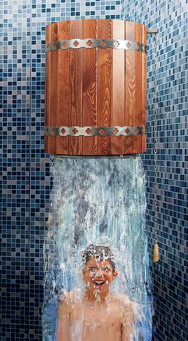 Для чего в бане предназначено обливное ведро, из каких материалов изготавливается