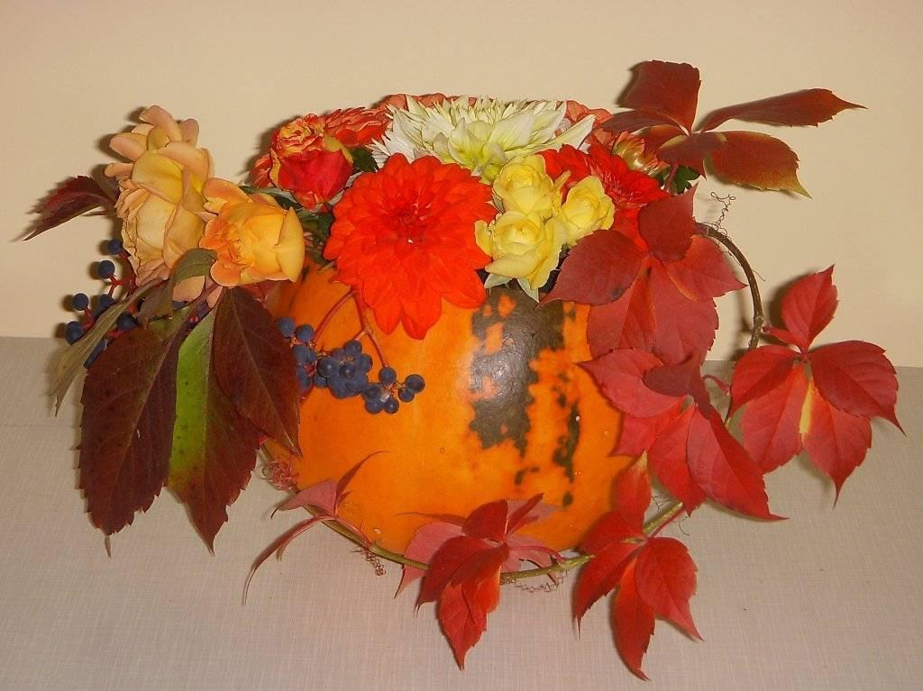 Осенний букет. композиции своими руками из листьев, природного материала