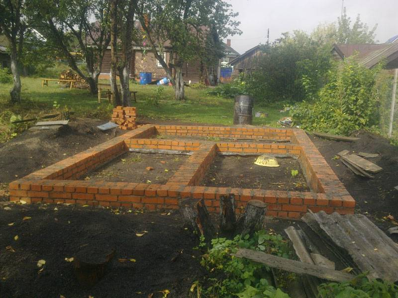 Баня из кирпича своими руками - все этапы строительства