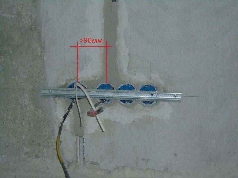 Установка подрозетников в бетонные и прочие стены - хороший способ