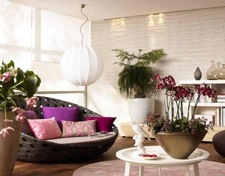 Растения в интерьере квартиры. размещение растений в интерьере.