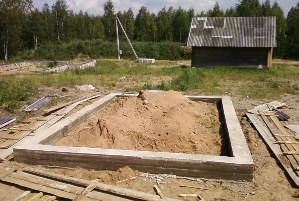 Как сделать фундамент своими руками для бани – ленточная конструкция на практике