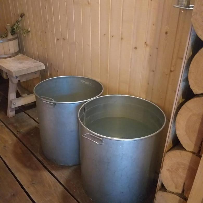Бак самоварного типа для бани