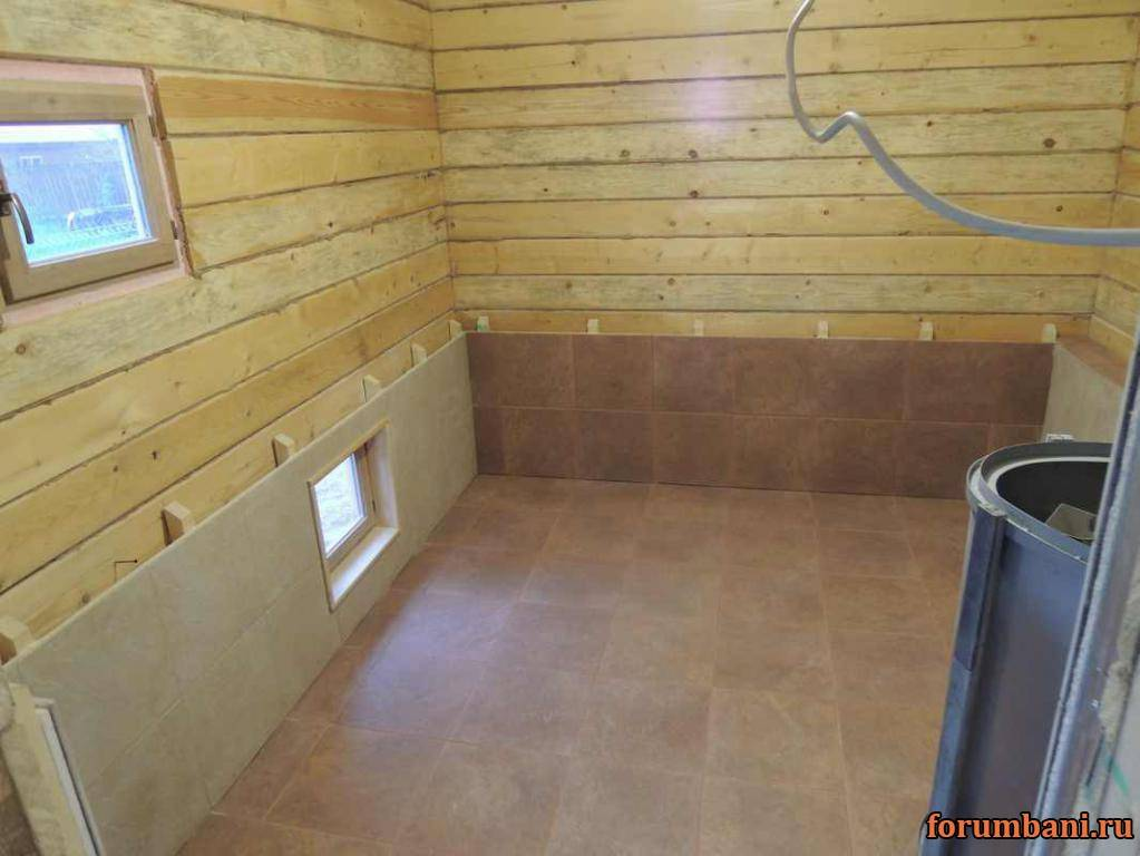 Плитка для бани – как сделать пол в бане из плитки + выбор и отделка