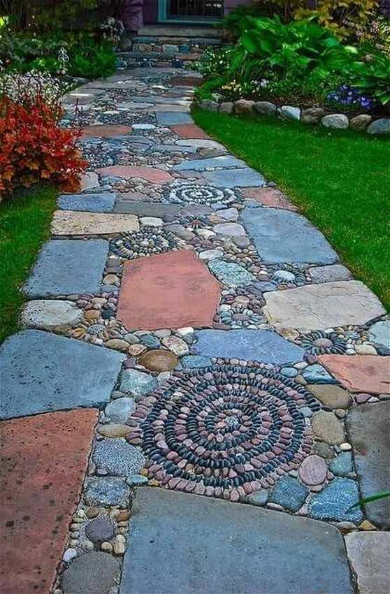 Какие садовые дорожки сделать надаче или участке (35 фото)