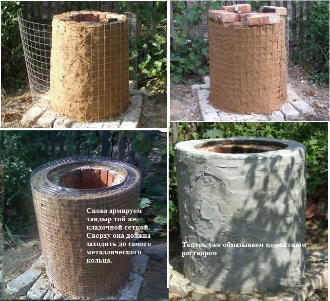 Тандыр из кирпича — идеи и технологии постройки своими руками, смотрите инструкции на фото!