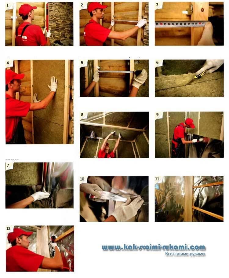 Утепление бетонных и деревянных полов в бане своими руками