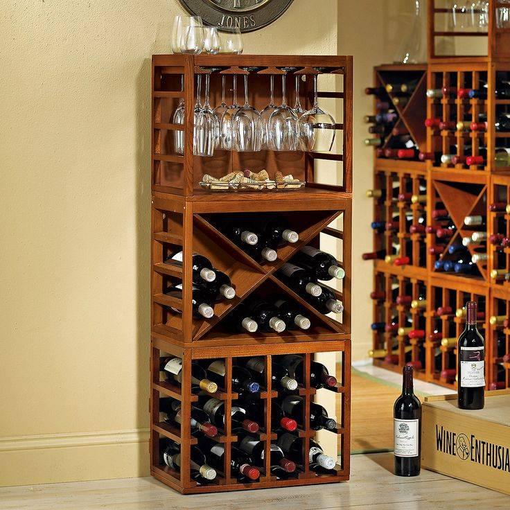 Условия хранения вина, этапы самостоятельного изготовления винных полок
