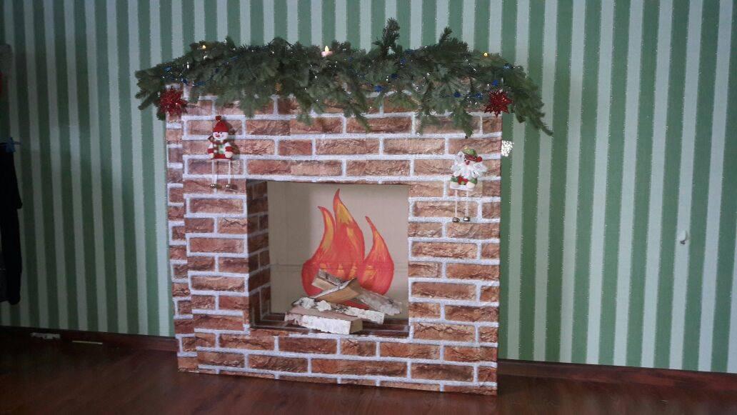 Как сделать имитацию огня в камине