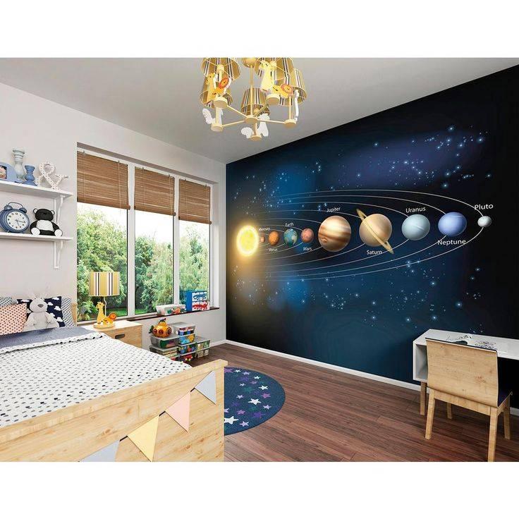 Фотообои космос на стену в интерьере, фото 16 идей