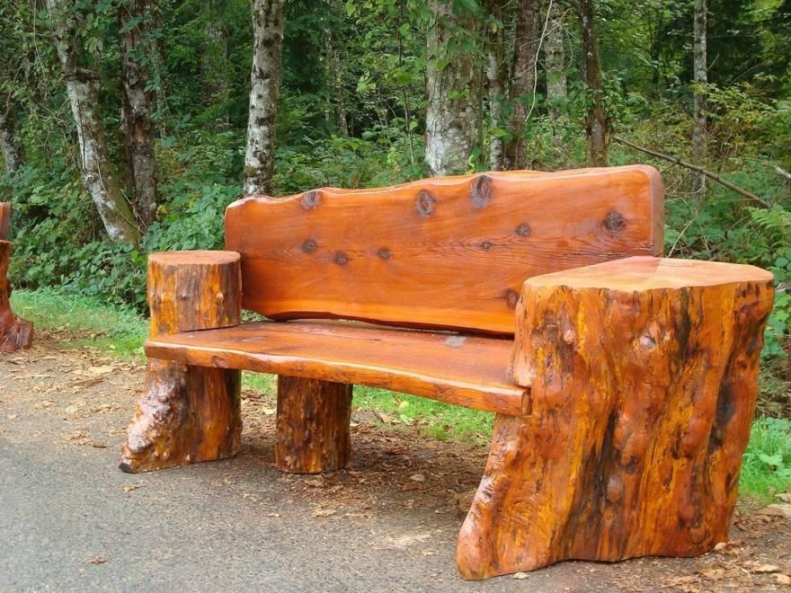Бревенчатая мебель из отходов. мебель из бревен своими руками