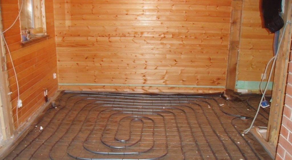 Теплый пол в бане от банной печи: отопление и как сделать своими руками