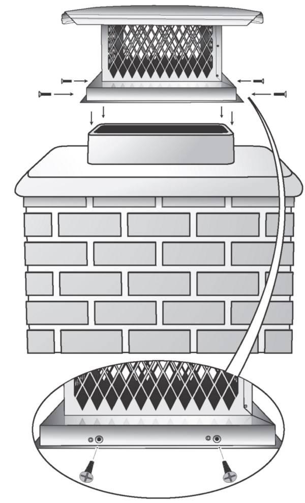 Искрогаситель на дымоход своими руками: как сделать и установить