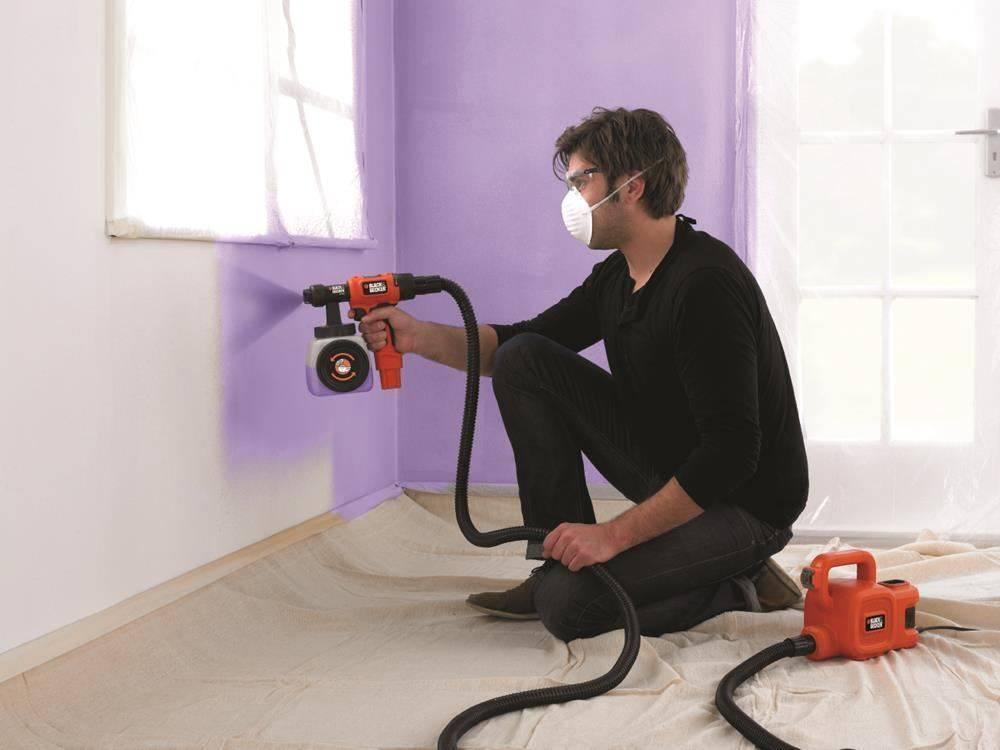 Покраска потолка валиком – хитрости, видео