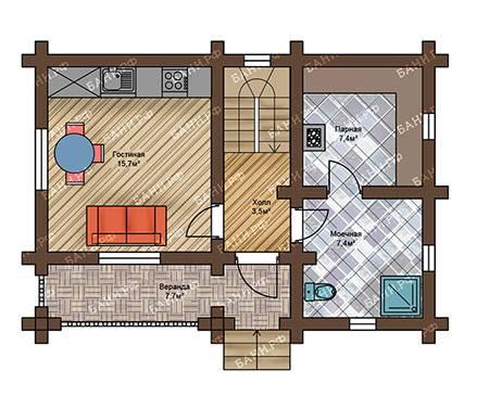Проекты бани с террасой и домов: расписываем по порядку
