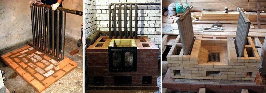 Печь с водяным отоплением для дома - кирпичная, кузнецова