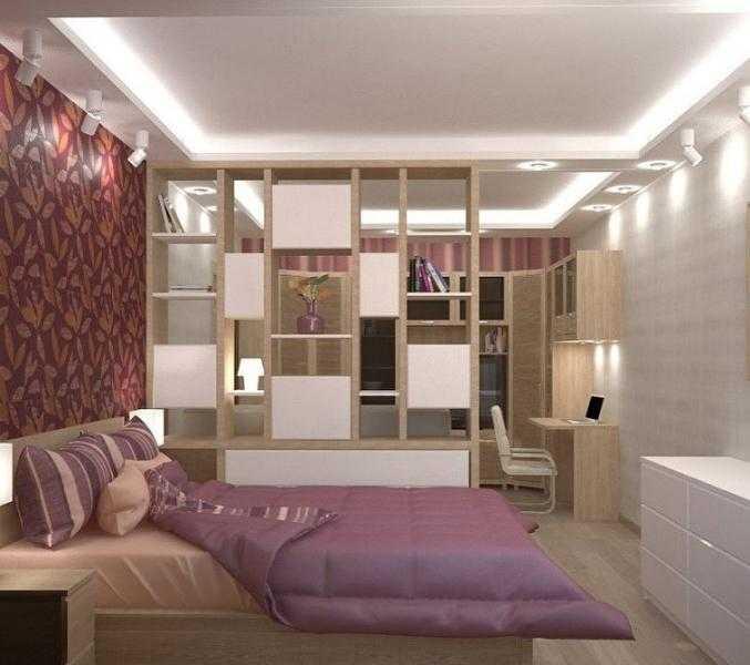 Как разделить комнату на две зоны спальня и гостиная фото