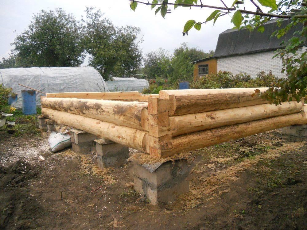 Столбчатый фундамент под каркасную баню