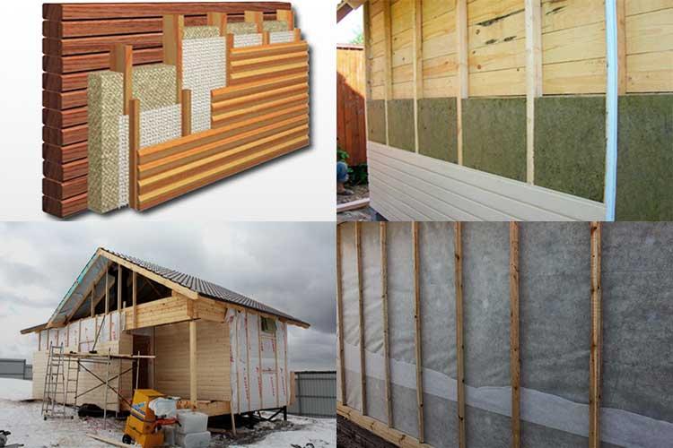 Утепление стен бани изнутри и снаружи - технология проведения работ