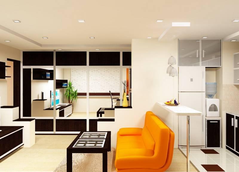 Кухня гостиная: варианты объединения, дизайн совмещенного интерьера   дизайн и фото