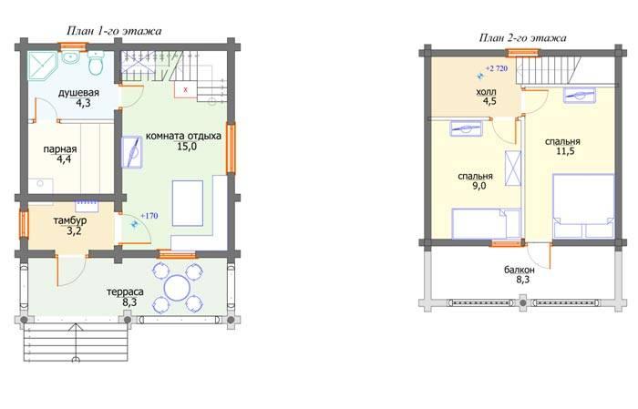 Проекты домов с баней под одной крышей, что нужно учесть при строительстве, и как правильно эксплуатировать