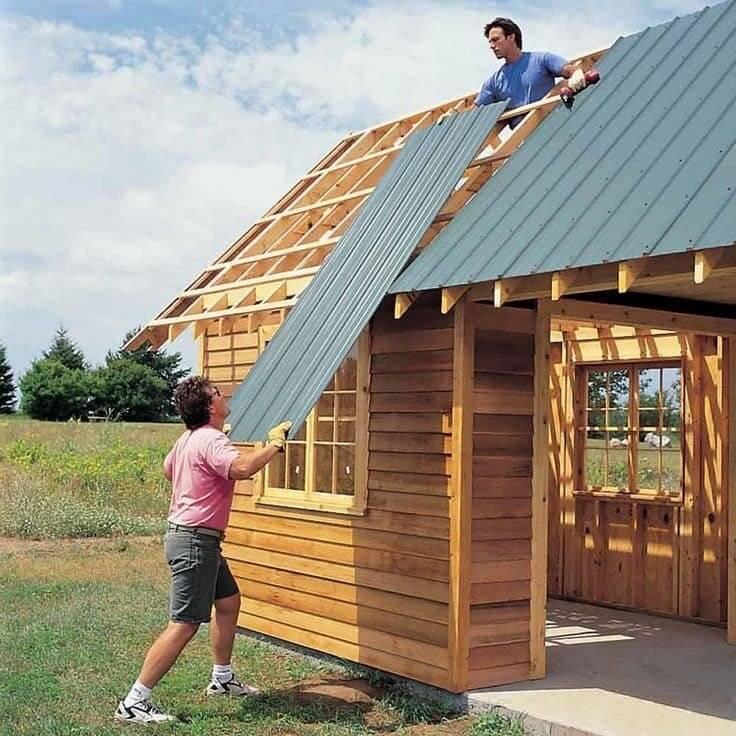 Как без денег построить дом