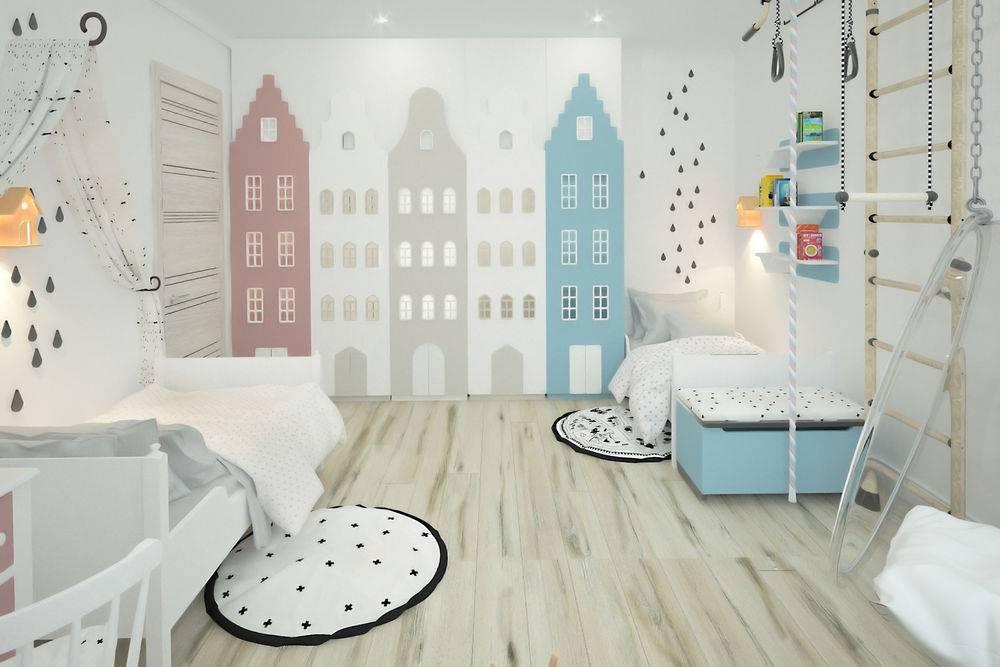 Роспись стен в интерьере детской комнаты: идеи и мастер-класс