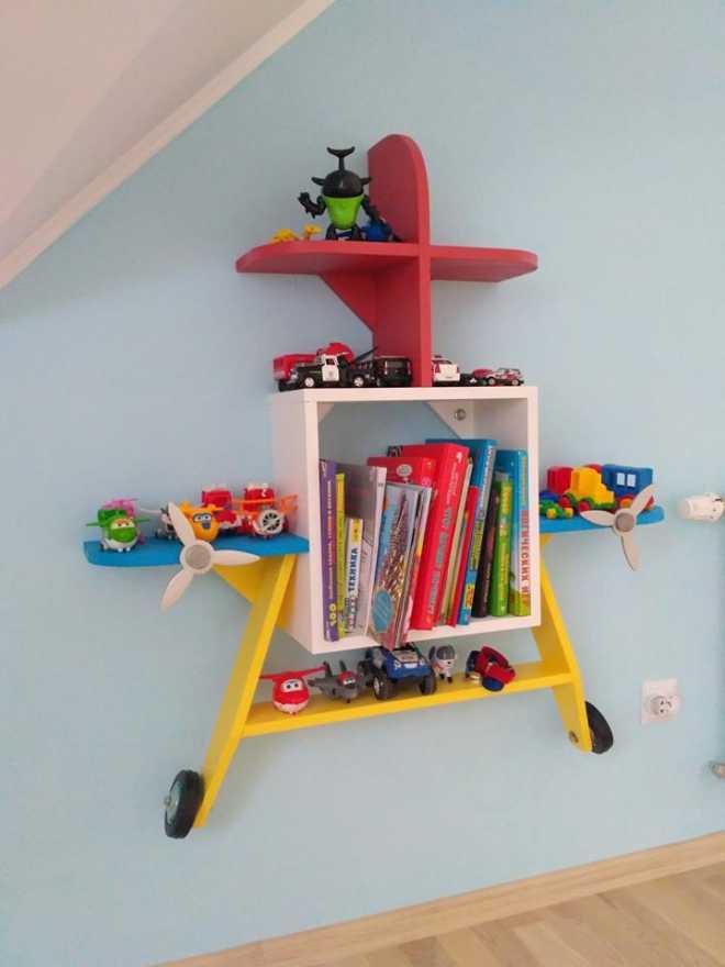 """Как сделать полку для игрушек в детскую из того, что под рукой - журнал """"сам себе изобретатель"""""""