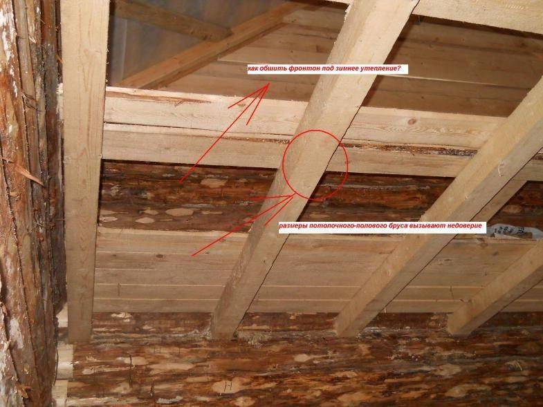 Правильное устройство потолка в бане