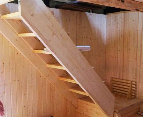 Лестница на мансарду: основные виды и технология изготовления