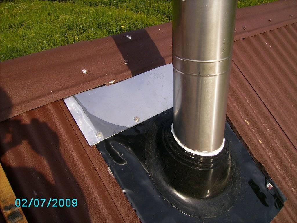 Как установить трубу в бане через крышу - клуб мастеров