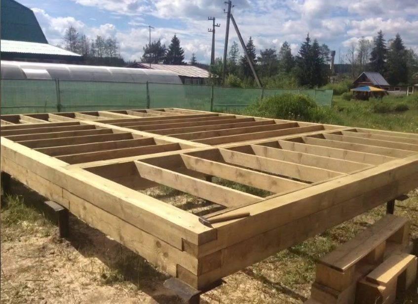 Каркасная баня: строим фундамент своими руками